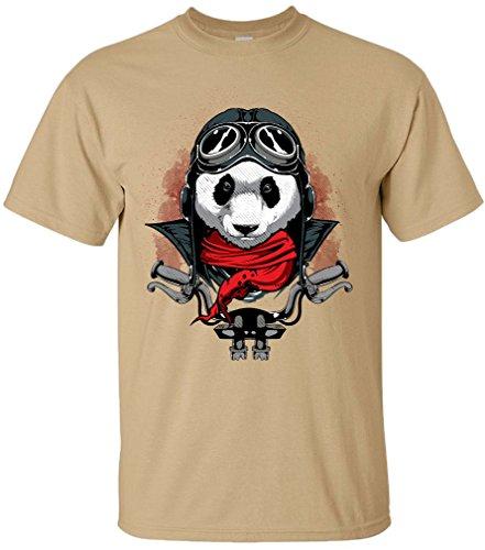 PAPAYANA - RIDER-PANDA - Herren T-Shirt - ROCKER BIKER MC BEAR MOTOR CLUB FAST FURIOUS Khaki