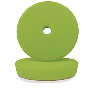 ALCLEAR 50145G Polierpad Mittel Hart für RUPES® Maschinen, Durchmesser : 145/128 x 25 mm, grün,2er Set