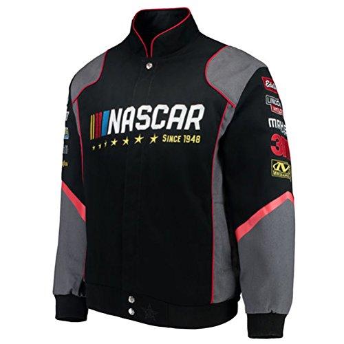 2017Nascar Racing Generic Schwarz Twill Nascar Jacket von JH Design, Herren, Schwarz, Large