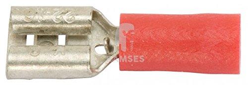 Preisvergleich Produktbild KIESUNDCO Flachsteckhülse teilisoliert, rot 2,8 / 0,5 - 1,5 mm² 100 Stück