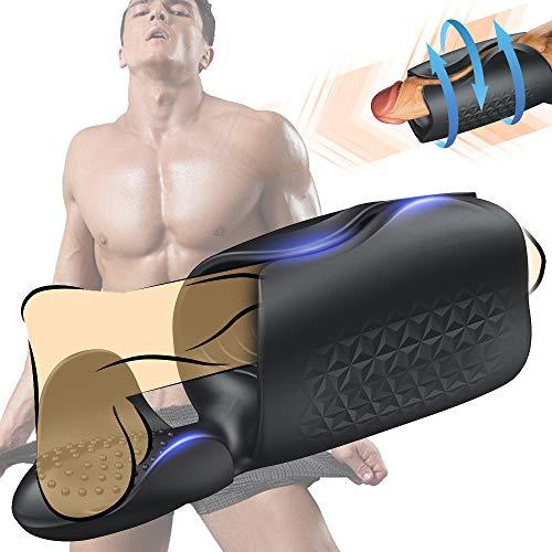 TREEDIRIDE Penis Vibratoren Elektrische Cup Masturbatoren für Männer mit 10 Vibrations Programmen, Wiederaufladbar Wasserdicht Penis Stimulator Handjob Stroker Hand Masturbator