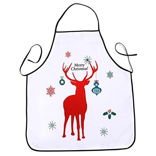 Lqchl 1Pcs 70*80Cm Décoration De Noël Tablier Imperméable En Polyester Pour Le Dîner De Noël Cuisine Tablier Partie Décoration D,K