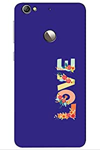 TEMPER Love In Blue 3D Back Cover for LeEco Le 1s
