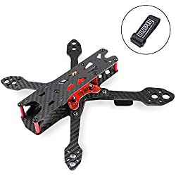 Martian IV 250mm FPV Racing Drone Cadre Fibre de Carbone Quadcopter Frame Kit 4mm Bras avec Carte de Distribution d'alimentation et Sangle de Batterie
