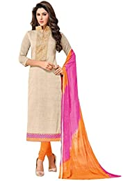 SKYBLUE FASHION Women's Cotton Dress Material (manas150_Free Size_chicku)