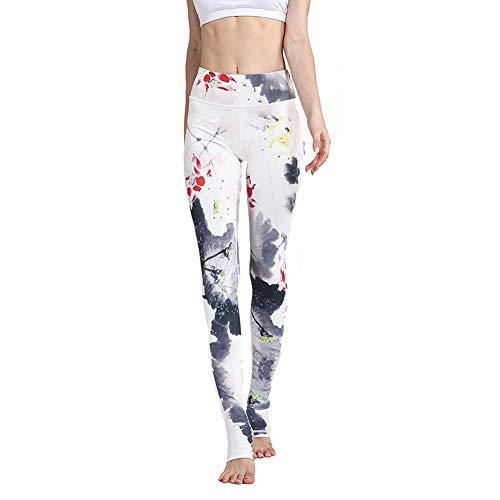 Feidaeu Pantalones de Mujer Impreso Elástico Apretado Secado rápido