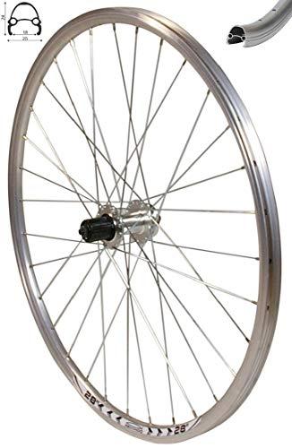 Redondo 28 Zoll Hinterrad Laufrad Fahrrad V Profil Hohlkammer Felge Silber Disc