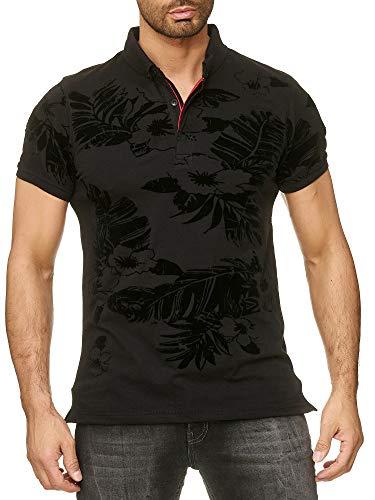 SCAMM Herren Polo Shirts aus Baumwolle Slim fit sportlich männlich elegant Anders für den coolen Alltag und heiße Events (ET6017 sw, XL)