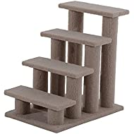 PawHut Pet Stairs 4 Steps Dog Cat Little Older Animal Climb Ladder