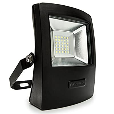 Outdoor Garden Floodlight - LED Security Flood Light with Advanced SMD2030 LED Chip suitable for Billboards - Factories - Gardens - Workspaces - Landscape Lighting - Spot lighting & more - IP65 Waterproof Rating and Aluminium Body for Versatile Uses & Dur