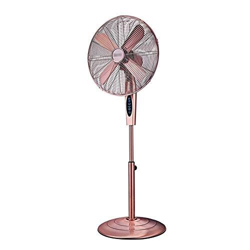 QYJpB-Standventilatoren Bronze Lüfter Fernbedienung Starke Retro Metall Lift Fan Industrie Shaker Kopf Fan Suitfor Wohnheim Restaurant - Bronze-lüfter