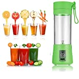 #6: Meya Happy Plastic Instant Juicer Mixer Grinder Portable USB Powered, Rechargeable Plus Drinking Bottle ,Size (2 Cup) (MH-1233A, Multi-Colour)