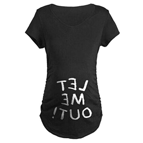 Gagacity Schwanger Tshirt Baby Lustiges Witziges Süßes Umstandsshirt mit Guck-Guck Motiv für Die Schwangerschaft/Umstandsmode/Schwangerschaftsshirt (Halloween-t-shirts Schwangere)