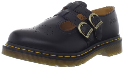 Dr Martens Women's 8065 Mary Jane Buckle Leather Shoe Black-Black-6