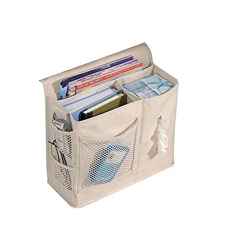 panniuzhe 6Taschen Nachttisch Storage Bett Organizer zum Aufhängen Tasche für Armbanduhr Handy Sonnenbrille magaazines Halter Tasche beige by PANNIUZHE
