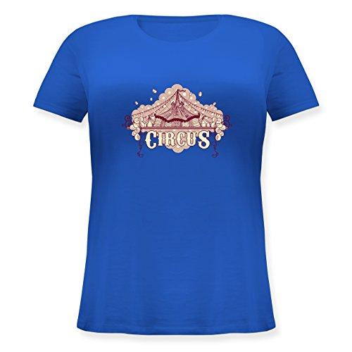 Statement Shirts - Circus - Lockeres Damen-Shirt in großen Größen mit Rundhalsausschnitt Blau