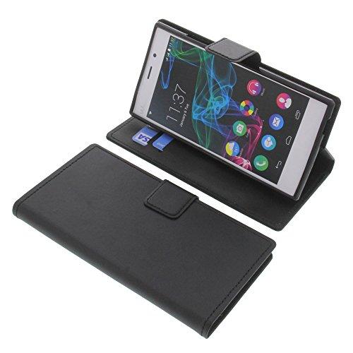 Tasche für Wiko Ridge Fab 4G Book Style schwarz Schutz Hülle Buch