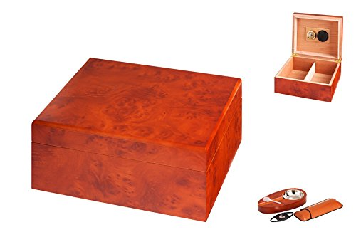 Angelo Humidor Set Braun