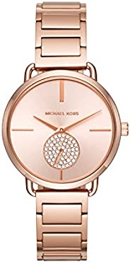 Michael Kors Women's Stainless Steel Quartz Watch with Leather S
