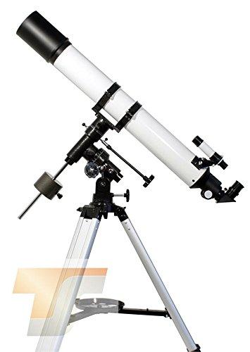 TS-Optics Teleskop R 80/900 mit EQ3-1 mit besserem Stativ und viel Zubehör, Starscope809