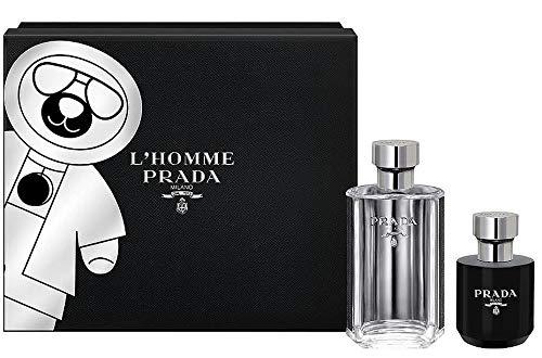 Prada L'Homme Duftset Eau de Toilette Spray + Duschgel, 1er Pack (1 x 1 Stück)
