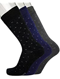 Blacksmith 100% COTTON FORMAL SOCKS FOR MEN IN ASSORTED COLORS (PACK OF 3) 1A