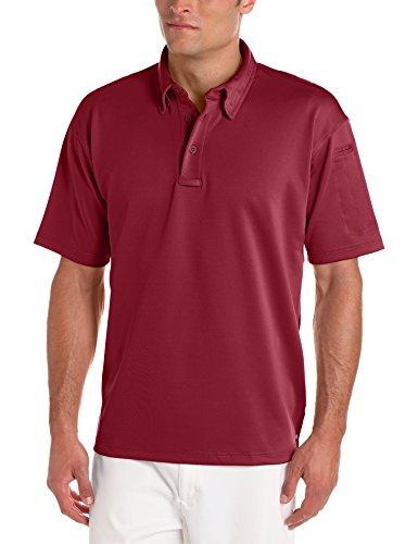 PROPPER Herren I.C.E Long Sleeve Regular Performance Polo Shirt burgunderfarben