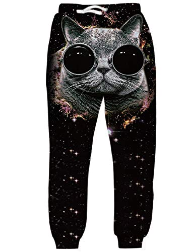 5cf922e0c1 uideazone Women's Full Length 3D Graphic Full Print Leggings Cat Jogging  Stretchy Trousers Pants Workout