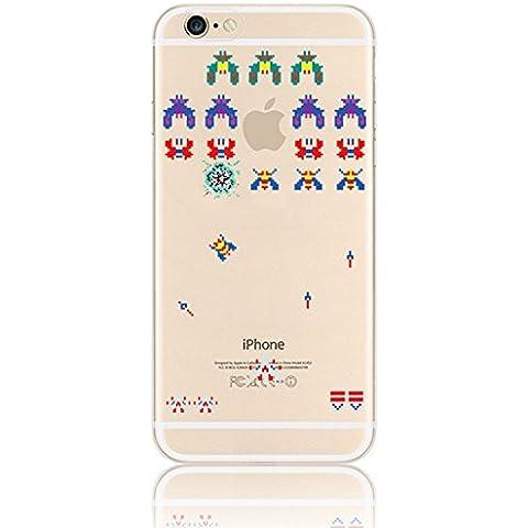 Vandot Funda para iPhone 6 / iPhone 6s 4.7 Pulgadas Prism Crystal Case Cover TPU Silicona Gel Transparente Ultra delgada Resistente a los aranazos Amortigua los golpes Carcasa Alta Calidad Paisaje 3D Populares imagen Dibujos Animados Juego del avispon