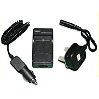 Camera Battery Charger for Sony Cyber-shots - Compatible with NP-BD1, NPBD1, NP-FD1, NPFD1, DB-BD1, DBBD1 for Camera model number  DSCT2, DSC-T2, DSCT70, DSC-T70, DSCT77, DSC-T77, DSCT90, DSC-T90, DSCT200, DSC-T200, DSCT300, DSC-T300, DSCT500, DSC-T500, DSCT700, DSC-T700, DSC-T900, DSCT900, DSC-TX1, DSCTX1 - 2 Hours Average charge - AAA Products - 12 Month Warranty