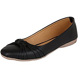 Ziaula Women's Black Synthetic Ballerinas Shoe - 5 UK/IND