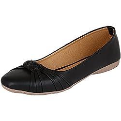 Ziaula Women's Black Synthetic Ballerinas Shoe - 5 UK/IND