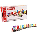 AdiChai Wooden Train Toy Set -Train Cars Digital Toy Set-Toy Train Sets for Kids Toddler Boys and Girls - Learning…