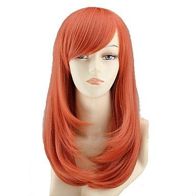 HJL-cos couleur perruque de bande dessin¨¦e longue poire fleur a un long rouleau de vente perruque orange, comme des petits pains , red