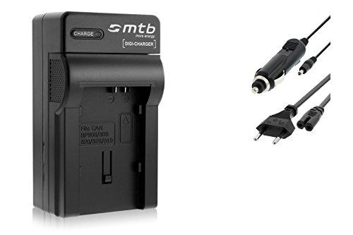 Caricabatteria (Auto/Corrente) per Canon BP-808/809/819 / Legria HF G10, G25, M31, Vixia. vedi list