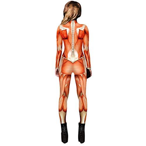 Amcool 2019 Damen MädchenHalloween Rose Skelett Movement Breathable Halloween Party Fancy Gespenstisch Bodycon Play Cosplay Kostüm Langarm Leggings - Herren 1930er Jahre Kostüm