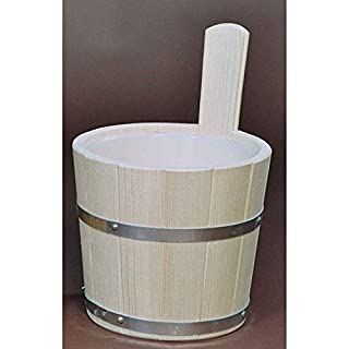 Achleitner Sauna Infusion Bucket Spruce Wood 5 Liter with Plastic Insert