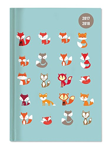 Diary School collegetimer Foxes 2017/2018 – Weekly – 224 Pages – 10 x 15 cm