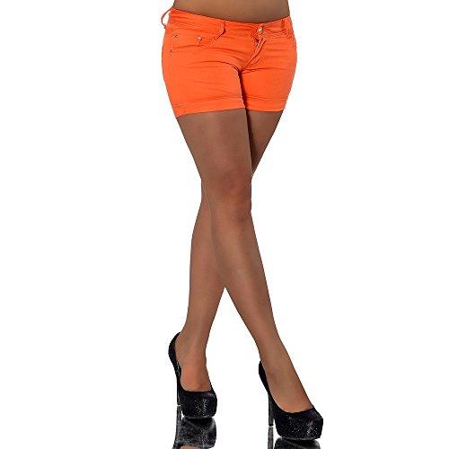 FULVIA ist eine absolut heiße Hotpants in Satin-Optik. Die ideale kurze Jeans für deine nächste Sommerparty. Selbstverständlich sitzt die Hotpants durch das weiche Material und die niedrige Leibhöhe perfekt. Mit dabei der typische Five-Pocket-Style m...