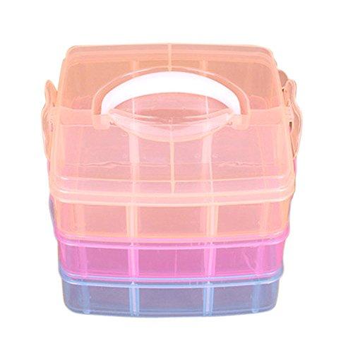 Dtuta Tragbare Mehrzweck Transparente Kunststoff Schmuck Perlen Aufbewahrungsbox Container Manager Fall Handwerkzeug