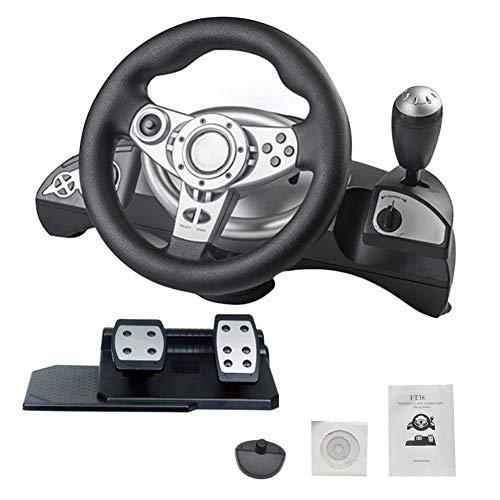 gaeruite Driving Force Racing Pedali e Pedali, Supporto PS3 / PS4 / PC D-Input/X-Input Computer PC, Simulatore di Volante per Guida automobilistica