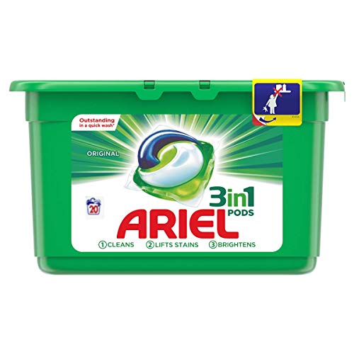 Ariel 3 in 1 Liquid Detergent Pods 20's Regular