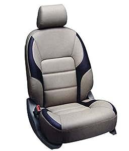 Motospotz Giarda CSG687 Beige and Black Art Leather Car Seat Cover for Skoda Laura
