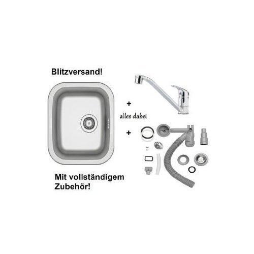 Ikea Küchenspüle Waschbecken Einbauspüle Spüle + Einhand-Mischbatterie + Zub. Sifon Siphon Spülbecken FYNDIG NEU & OVP