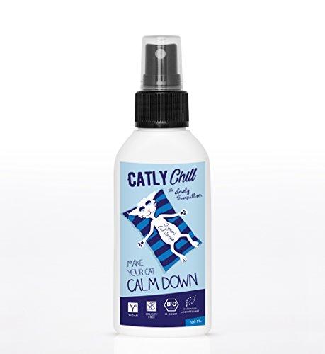 Erba gatta spray tranquillante per gatti CATLY CHILL | Bio accessori per gatti | Spray 100ml anti stress e nervoso per gatti | Articoli per gatti