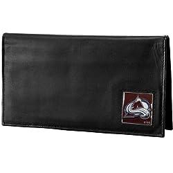 NHL Colorado Avalanche Genuine Leather Deluxe Checkbook Cover