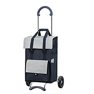 Andersen Shopping trolley Scala with bag Milla blue, Volume 49L, steel frame
