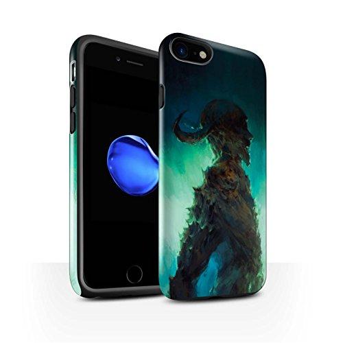 Offiziell Chris Cold Hülle / Glanz Harten Stoßfest Case für Apple iPhone 7 / Dunkelste Stunde Muster / Dämonisches Tier Kollektion Gehörnter Dämon
