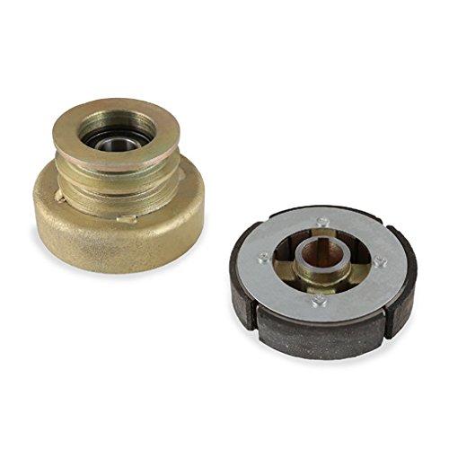 Preisvergleich Produktbild EBERTH Doppelfliehkraftkupplung (25 mm Welle,  7 mm Passfeder,  60 mm Keilriemen-Durchmesser,  Nutbreite innen 4 mm / außen 14 mm)