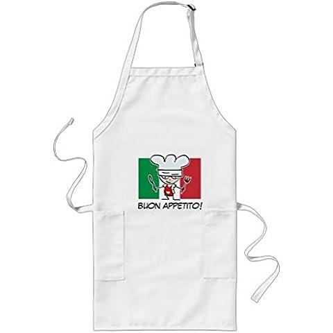 whiangfsoo italiano Chef delantal para barbacoa con bandera de Italia